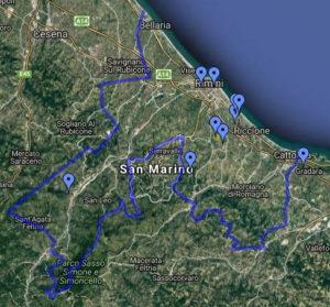 Mappa protezione animali Rimini